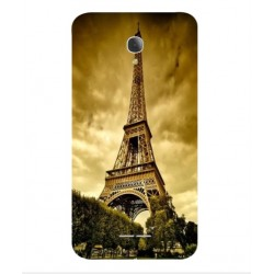 Funda Torre Eiffel Para Alcatel Fierce 4