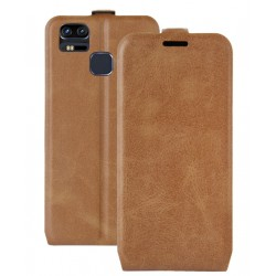 Asus Zenfone 3 Zoom ZE553KL Brown Flip Leather Case