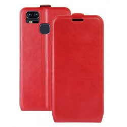 Asus Zenfone 3 Zoom ZE553KL Red Flip Leather Case