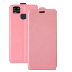 Asus Zenfone 3 Zoom ZE553KL Pink Flip Leather Case