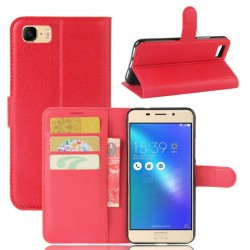 Asus ZenFone 3s Max (ZC521TL) Red Wallet Case