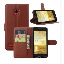 Asus Zenfone 5 A502CG Brown Wallet Case