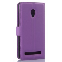 Asus Zenfone 5 A502CG Purple Wallet Case