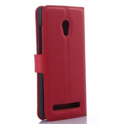 Asus Zenfone 5 A502CG Red Wallet Case
