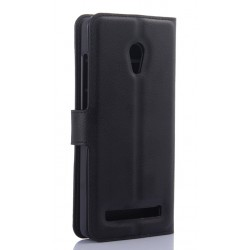 Asus Zenfone 5 A502CG Black Wallet Case