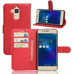 Asus Zenfone 3 ZE520KL Red Wallet Case