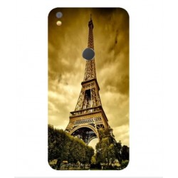 Coque Protection Tour Eiffel Pour Alcatel Shine Lite