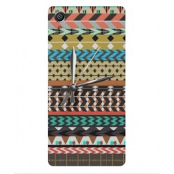 Sony Xperia E5 Mexican Embroidery With Clock Cover