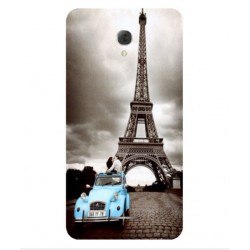 Torre Eiffel Vintage Custodia Per Alcatel Pop 4