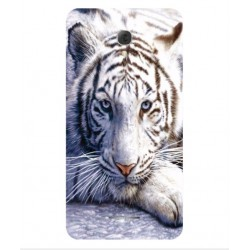 Coque Protection Tigre Blanc Pour Alcatel Pop 4