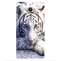 Coque Protection Tigre Blanc Pour Alcatel Pop 4S