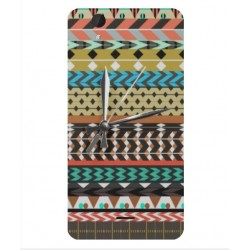 Coque Broderie Mexicaine Avec Horloge Pour Wiko Birdy 4G