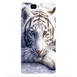 Coque Protection Tigre Blanc Pour Wiko Highway 4G