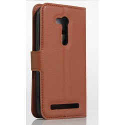Asus Zenfone Go ZB450KL Brown Wallet Case
