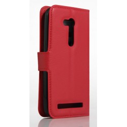 Asus Zenfone Go ZB450KL Red Wallet Case