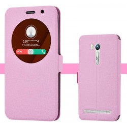 Etui Protection S-View Cover Rose Pour Asus Zenfone Go ZB551KL