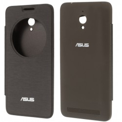 Etui Protection S-View Cover Marron Pour Asus Zenfone Go ZC500TG