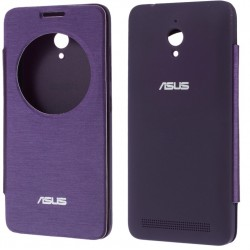 Purple S-view Flip Case For Asus Zenfone Go ZC500TG