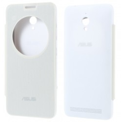 White S-view Flip Case For Asus Zenfone Go ZC500TG