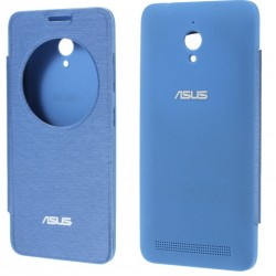 Funda S View Cover Color Azul Para Asus Zenfone Go ZC500TG