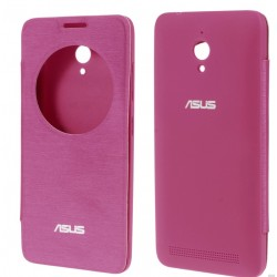 Etui Protection S-View Cover Rose Pour Asus Zenfone Go ZC500TG