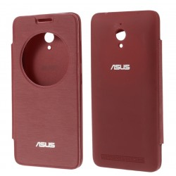 Etui Protection S-View Cover Rouge Pour Asus Zenfone Go ZC500TG