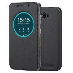 Black S-view Flip Case For Asus Zenfone Max ZC550KL (2016)