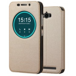 Etui Protection S-View Cover Or Pour Asus Zenfone Max ZC550KL (2016)