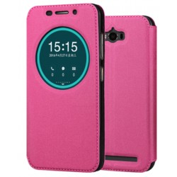 Pink S-view Flip Case For Asus Zenfone Max ZC550KL (2016)