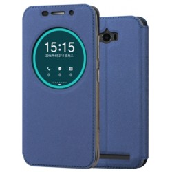 Blue S-view Flip Case For Asus Zenfone Max ZC550KL (2016)