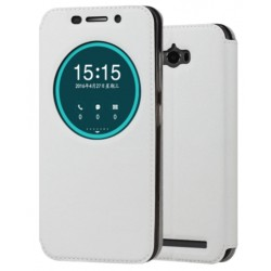 White S-view Flip Case For Asus Zenfone Max ZC550KL (2016)