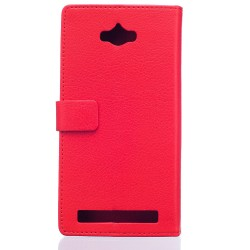 Asus Zenfone Max ZC550KL (2016) Red Wallet Case