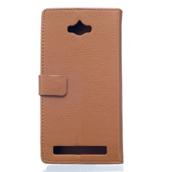 Asus Zenfone Max ZC550KL (2016) Brown Wallet Case