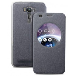 Black S-view Flip Case For Asus Zenfone Selfie ZD551KL