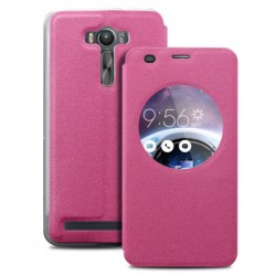 Pink S-view Flip Case For Asus Zenfone Selfie ZD551KL
