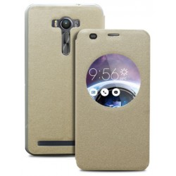 Gold S-view Flip Case For Asus Zenfone Selfie ZD551KL
