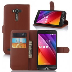 Asus Zenfone Selfie ZD551KL Brown Wallet Case
