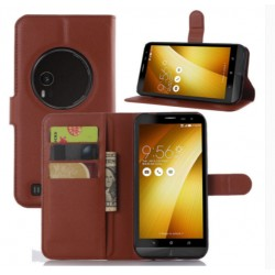 Protection Etui Portefeuille Cuir Marron Asus Zenfone Zoom ZX550