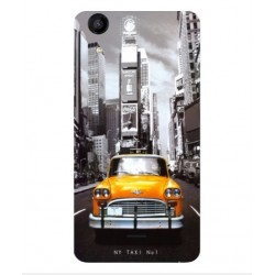 Coque New York Taxi Pour Wiko Rainbow Jam 4G