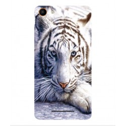 Coque Protection Tigre Blanc Pour Wiko Jerry