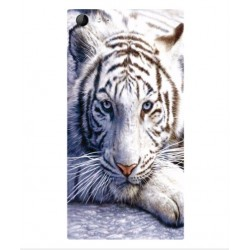 Coque Protection Tigre Blanc Pour Wiko Highway Star 4G