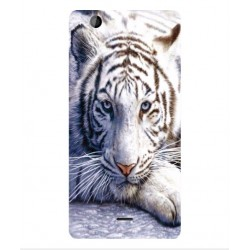 Coque Protection Tigre Blanc Pour Wiko Highway Signs