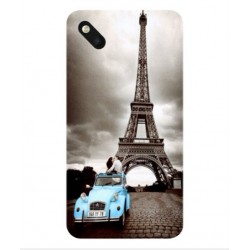 Wiko Sunset 2 Vintage Eiffel Tower Case