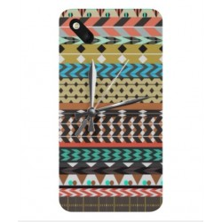 Coque Broderie Mexicaine Avec Horloge Pour Wiko Sunset 2