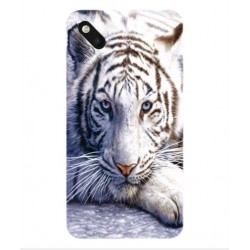 Coque Protection Tigre Blanc Pour Wiko Sunset 2
