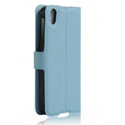 Protection Etui Portefeuille Cuir Bleu BlackBerry DTEK50