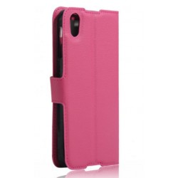 Protection Etui Portefeuille Cuir Rose BlackBerry DTEK50