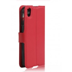 Protection Etui Portefeuille Cuir Rouge BlackBerry DTEK50
