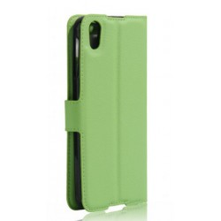 Protection Etui Portefeuille Cuir Vert BlackBerry DTEK50