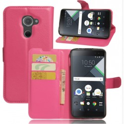 Protection Etui Portefeuille Cuir Rose BlackBerry DTEK60